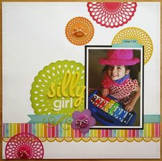 Love this layout! Use doilies from Silhouette cutting files.