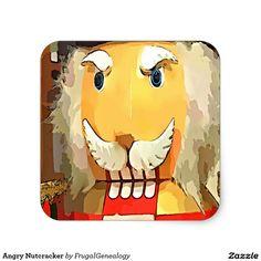 Angry Nutcracker Square Sticker