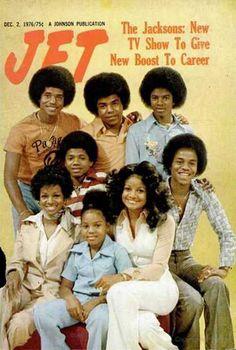"The Jackson Family on ""Jet"" Magazine (December 2, 1976) (L-R from the Top Jackie Jackson, Tito Jackson, Michael Jackson, Randy Jackson, Rebbie Jackson, Janet Jackson, La Toya Jackson, and Marlon Jackson.)"
