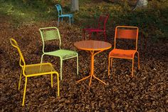 Spaghetti chair in Colors without arm rests - Gardenfurniture Schaffner Chur, Interior Architecture, Interior Design, Chair Bench, Outdoor Furniture Sets, Outdoor Decor, Wood Storage, Balcony Garden, Dining Chairs