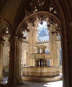 Gothic architecture at Batalha Monastery, Portugal