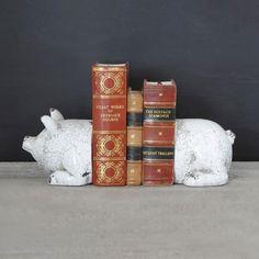 Farmhouse Pig Bookends