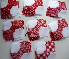 Red bow tie blocks