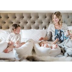 Snuggling in bed with two DockATot baby loungers is a little slice of heaven! Moms love DockATot portable baby beds for use in every room in the house. Visit dockatot.com for more info or to purchase this must have baby gear.