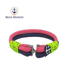O'toole Nautical Bracelet by Bran Marion Nautical Bracelet, Nautical Jewelry, Marine Rope, Captain Hook, Everyday Look, Handmade Bracelets, Color Combinations, Jewelry Collection, How To Wear