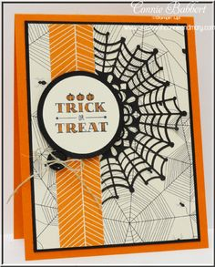 by Connie: A Little Something, Happy Hauntings dsp, Spider Web Doilies, & more - all from Stampin' Up!