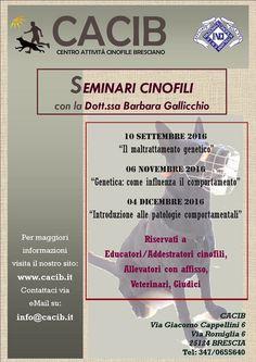 Tra genetica e comportamento: Cacib cala il tris di seminari con Barbara Gallicchio :http://www.qualazampa.news/event/tra-genetica-e-comportamento-cacib-cala-il-tris-di-seminari-con-barbara-gallicchio-3/