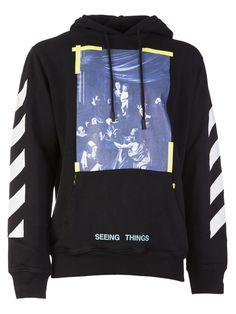 OFF-WHITE Off-white Caravaggio Print Hoodie. #off-white #cloth #