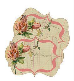 Vintage Rose Frames - Friday Freebie at Wild at Heart.