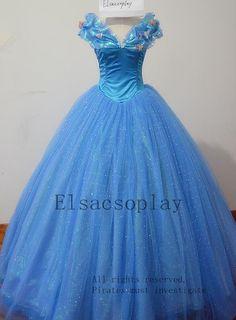 Deluxe Style - My Favorite Movie Cinderella Dress, 2015 New Cinderella Dress, 2015 New Cinderella Costume for Cosplay Costume