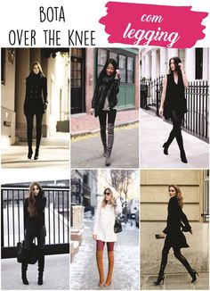 Como usar bota de cano longo com legging Outfit Botas Negras, Fall Winter Outfits, Winter Fashion, Leggings Negros, Jersey Oversize, Black Leggings Style, What Should I Wear Today, Skinny, Winter Looks