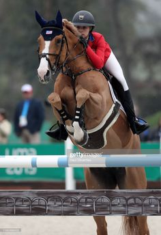 Eve Jobs of USA riding Venue D'fees D Hazalles competes during equestrian Jumping Individual at Army Equestrian School on Day 14 of Lima 2019 Pan American Games on August 2019 in Lima, Peru. Cute Horses, Pretty Horses, Horse Love, Beautiful Horses, Show Jumping Horses, Show Horses, Horse Photos, Horse Pictures, Horse Riding Quotes