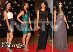 Weekend bash: These girls know how to glam up the night - Gia Manek, Sana Khan, Mugdha Godse and Neha Dhupia.