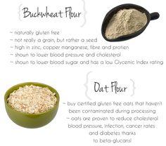 Health Benefits Of Buckwheat Flour And Oat Flour