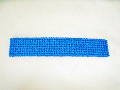 Blue Plastic Canvas Bookmark by MadJam3 on Etsy, $1.50