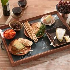 How to make a Chalkboard Serving Tray - from This Old House; simple, easy DIY gift or kitchen decor item!
