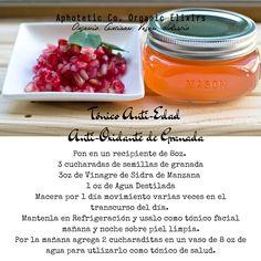 Tónico Anti-Edad y Anti-Oxidante de Organic Beauty, Natural Beauty, Pomegranate, Natural Skin Care, Beauty Hacks, Diy Crafts, Vegetables, Tips, Nature