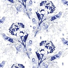 """wallpaper """"English flowers and Bugs"""" by Soon Salon Chinoiserie, Flower Power, Bic Pencils, Wallpaper Rose, English Flowers, Dining Room Wallpaper, Flower Bird, Blog Deco, Pattern Books"""