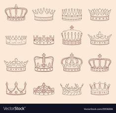 King Crown Drawing, Queen Crown Tattoo, Queen Drawing, Tiara Drawing, King And Queen Crowns, King Queen, Crown Tattoo Design, Prince Crown, Crown Logo
