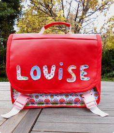 """French school bag - Cartable personnalisé en simili-cuir """"Les Sacs de génie"""""""