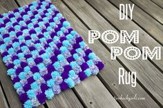 Two Keck Girls | DIY Pom Pom Rug | http://twokeckgirls.com