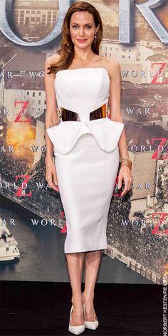 Desta vez em Berlim, Angelina Jolie voltou a brilhar num vestido peplum Ralph & Russo. ♥