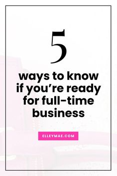 You've come so far with your entrepreneurial, side-hustling journey & now it's officially time to take the leap. Are you ready to quit your job? | Side-Hustler, Side Hustle, Quit Your 9-5, Quit Your Job, Quit Your Day Job, Full-Time Business, Full-Time Entrepreneur | ElleyMae.com