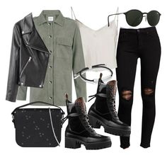 """""""Untitled #20986"""" by florencia95 ❤ liked on Polyvore featuring Hudson, Beautiful People, Anine Bing, AllSaints, Monica Vinader, Acne Studios and Ray-Ban"""