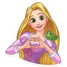 Bullet Journal Anxiety, Telegram Stickers, Watercolor Heart, Princess Zelda, Disney Princess, Princesas Disney, Rapunzel, Pugs, Disney Characters