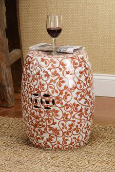 Katarra Garden Stool - Glazed Ceramic Stools, Chinese Ceramic Stool, Outdoor Stools | Soft Surroundings