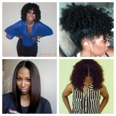 naturallytailored:    Shantae showing the versatility of natural hair. From a flexirod set to straight hair. #werkit