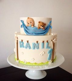 Baby boy cake by Couture cakes by Olga