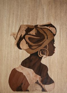 Intarsia Woodworking, Woodworking Projects Diy, Wood Burn Designs, Abstract Face Art, Small Wood Projects, Coffee Painting, Afro Art, Art And Technology, Wooden Art