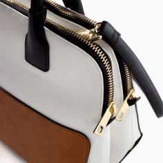 TWO-TONE BOWLING BAG from Zara