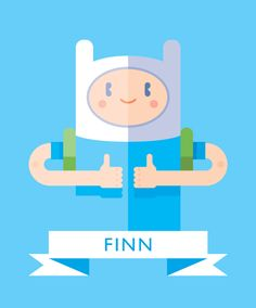 Finn the Human, Adventure Time artwork by Helbetico.