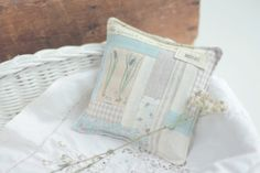"""botanical"" - muscari.  with lavender, cinnamon, camomile  14x14cm"