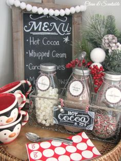 Cute hot cocoa bar!