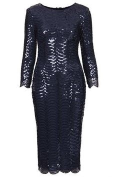 **Paris Scallop Bodycon Sequin Dress by TFNC