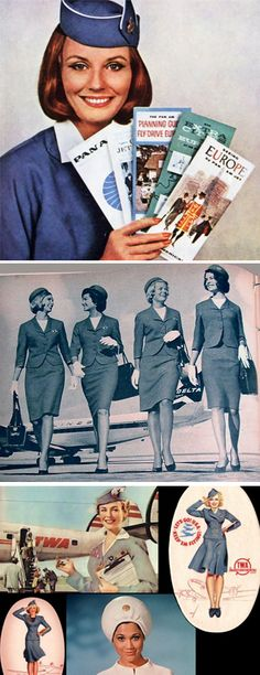 Vintage Stewardess Pictures - Flight Attendant Photos From The Past When The Airlines Only Hired The Hot Sexy Stewardess.