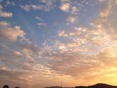 Sky of autumn in Fukuoka