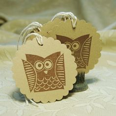 Owl Gift Tags by twohanddesign on Etsy, $5.00