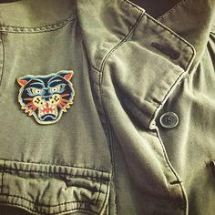 The big cat is in the store! - The Panther Iron on Patch by LesTatoués -
