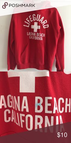 Life guard hoodie! In good condition, small blue mark but not noticeable. Tops Sweatshirts & Hoodies