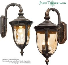 John Timberland Bellagio Carriage Style Outdoor Downbridge Arm (Top Arm) Wall Lights Led Path Lights, Outdoor Hanging Lights, Outdoor Post Lights, Outdoor Wall Lighting, Outdoor Walls, Wall Lights, Landscape Lighting Kits, Fan Decoration, Glass Material