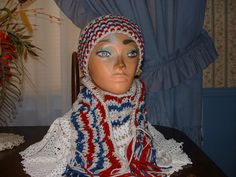 Crocheted Variegated Men/ Women Accessorie Scarf & Benie Hat Set NEW Handmade  #Handmade #LongScarfHatBenie