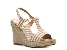Ann Marino Jackel Striped Wedge Sandal Wedges Sandal Shop Women's Shoes - DSW