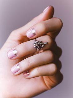 Pink + Rose Gold Manicure
