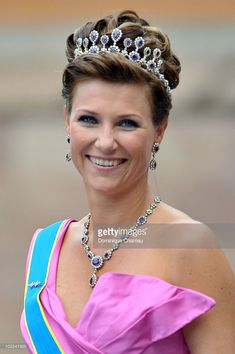 Princess Martha Louise of Norway attends the wedding of Crown Princess Victoria of Sweden and Daniel Westling on June 19, 2010 in Stockholm, Sweden.  (Photo by Dominique Charriau/WireImage)