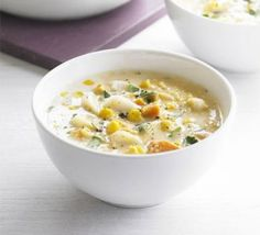 There's no need for shop-bought soup with this quick and nutritious recipe, from BBC Good Food magazine. Chowder Recipes, Soup Recipes, Bbc Good Food Recipes, Healthy Recipes, Bbc Recipes, Budget Recipes, Easy Recipes, Homemade Crumpets, Fish Chowder