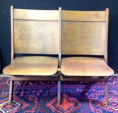 Vintage Wooden Theatre Seats (400.00 USD) by TheBrassPeacock